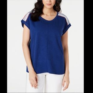STYLE&CO MIXED MEDIA SCOOP NECK TOO